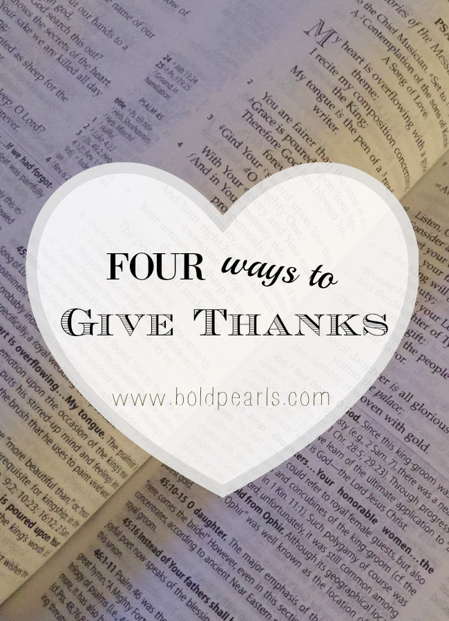 Four ways to give thanks on Thanksgiving