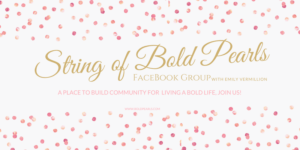 Facebook Live Show - String of Bold Pearls FB Group