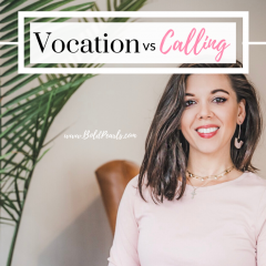 Vocation vs Calling