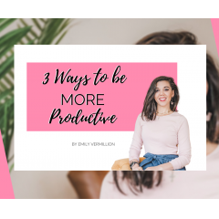 After learning how to make the most of my days as a work from home mom, I thought I should share these productivity hacks!