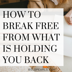 Is something holding you back? Learn how getting out of your funk will push you foward to happiness! Watch this video for some tips on how to break free from what is holding you back.