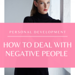 Do you have someone negatvie in your life that is bringing you down? Watch this quick video on the best ways to handle that!