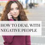 Don't allow negative people to affect your life! Watch this quick video to learn how to manage those relationships and interactions!