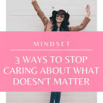 What really matters? Watch this to stop caring about what doesn't matter!