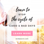 Stop dealing with good and bad days! Learn how to get out of the negative cycle! Watch this quick video!
