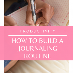 Do you want to journal? Watch this quick video to learn how to build a journaling routine!