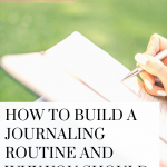 Learn to build a journaling routine and improve your mindset! Watch this quick video!