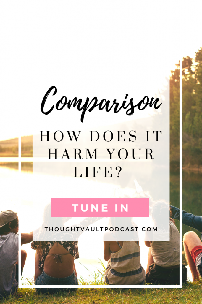Comparison weakens our mindset about our lives and steals our happiness. Tune in to this episode of The Thought Vault Podcast to learn how to take back control! #selfhelp #comparingyourself #newepisode