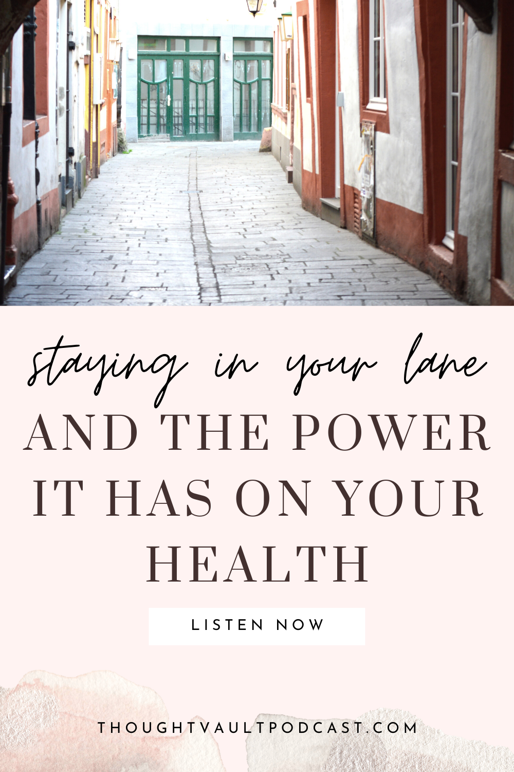 Improve your life and find your purpose by staying in your own lane. How can you do that? Tune in to this episode of The Thought Vault Podcast.